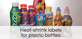 Heat-shrink labels  for plastic bottles