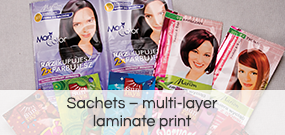 Sachets – multi-layer laminate print